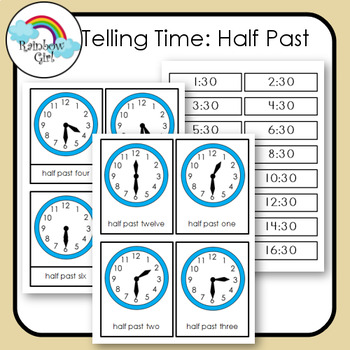 Telling Time Cards - Half Past
