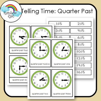 Telling Time Cards - Quarter Past