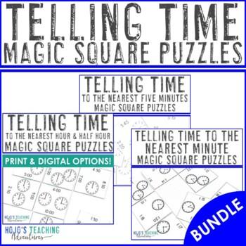 Telling Time Math Center Game Bundle