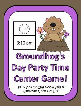 Groundhog Day Party Time Center For Telling Time