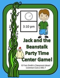 Telling Time with Jack and the Beanstalk's Party Time Center Game
