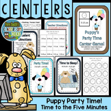 Telling Time to the Five Minute Center Game With Puppy and His Party Time Fun