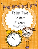 Telling Time Centers for 1st Grade