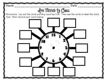 Telling Time Centers with Differentiation