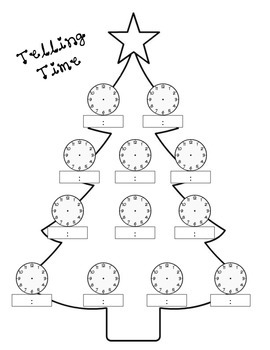 Telling Time Christmas Tree