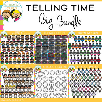 Telling Time Clip Art Bundle