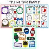 Telling Time Clip Art Bundle