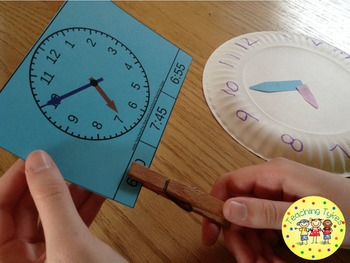 Telling Time 5 Minutes Clip Cards