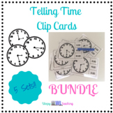 Telling Time Clip Cards Bundle for Elementary and Special