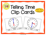 Telling Time Clip Cards Half Hour Intervals