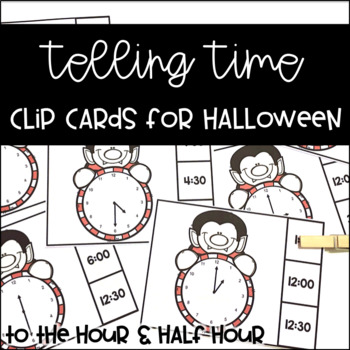 Telling Time Clip It Cards