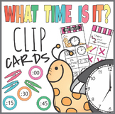 Telling Time Self Checking Clip It Cards
