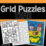 Telling Time | Clock Activities | Grid Puzzles