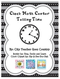 Clocks - Telling Time Center - Print and Go
