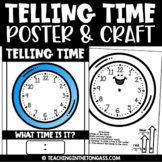 Telling Time Activity   Clock Craft and Writing Activities