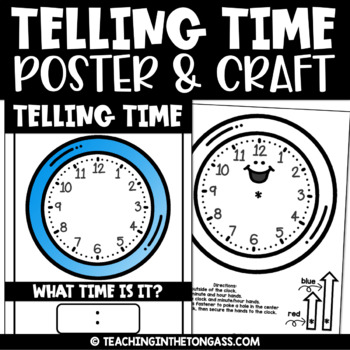 Telling Time Free Craft Activity (Craftivity)