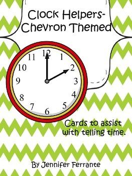 Telling Time Clock Helpers-Chevron Theme
