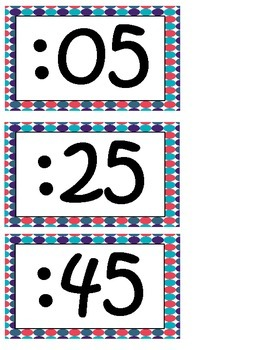 Telling Time Clock Helpers-Polka Dot Theme