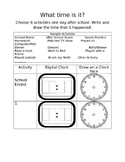 Telling Time Clock Homework