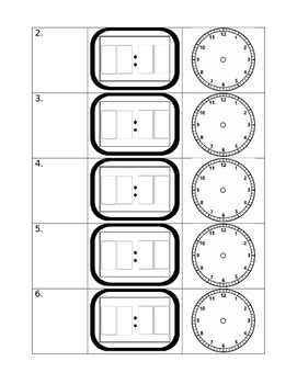 Telling Time Clock Homework