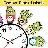 Telling Time Clock Labels - Cactus Theme Classroom Decor