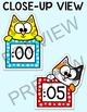 Telling Time Clock Labels - Cat Theme