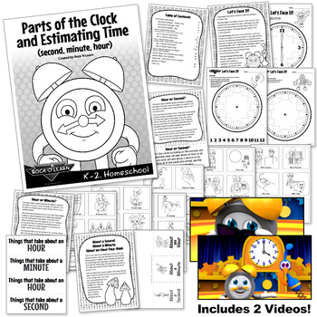 Telling Time - Parts of the Clock and Estimating Time