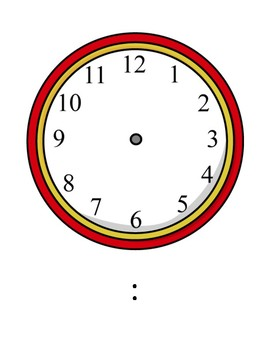 Telling Time Clock Template