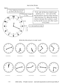 Telling Time--Clocks and Calendars Teaching Unit--Revised and Expanded
