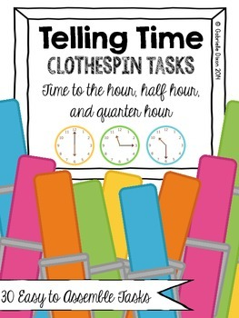 Telling Time Clothespin Activities {30 Tasks Included}