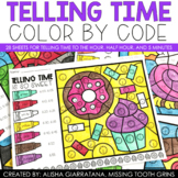 Color By Code Telling Time