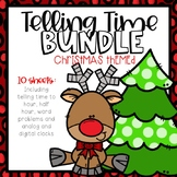 Telling Time Color-By-Code BUNDLE Christmas Themed