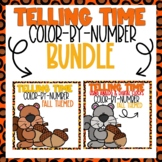Telling Time Color-By-Code BUNDLE Fall Themed