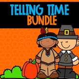 Telling Time Color-By-Code BUNDLE Thanksgiving Themed
