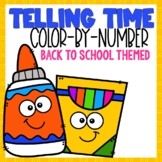 Telling Time Color-By-Number B2S Themed