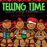 Telling Time Color-By-Number Christmas Themed