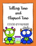 Telling Time Color by Number Monsters