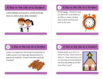 Telling Time Task Cards