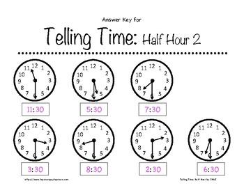 Telling Time: Complete BUNDLE K-3rd Grade Worksheets