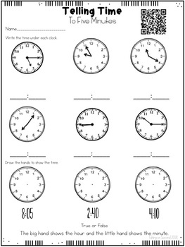 Telling Time {Instructional Videos, Assessments, Homework}