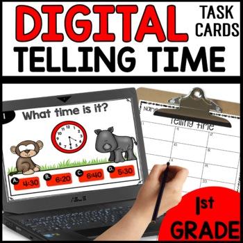Telling Time DIGITAL TASK CARDS