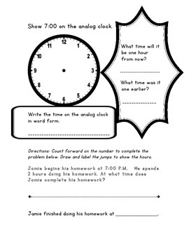 Elapsed Time - Common Core - Daily Do Now