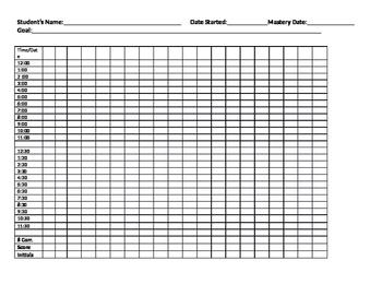 Telling Time Data Sheet 1