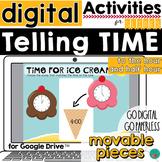 Telling Time Digital Activity - Google Classroom Activity