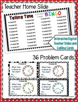 Telling Time Digital Bingo