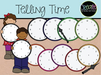Telling Time - Digital Clipart