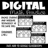 Telling Time Digital Math Practice for 2nd Grade