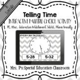Telling Time Digital Multiple Choice Activities **3 Levels