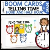 Telling Time Digital Task Cards using Boom Cards | Hour an