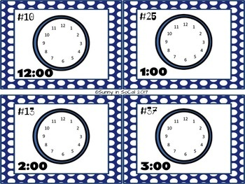 Telling Time: Digital to Analog Task Cards